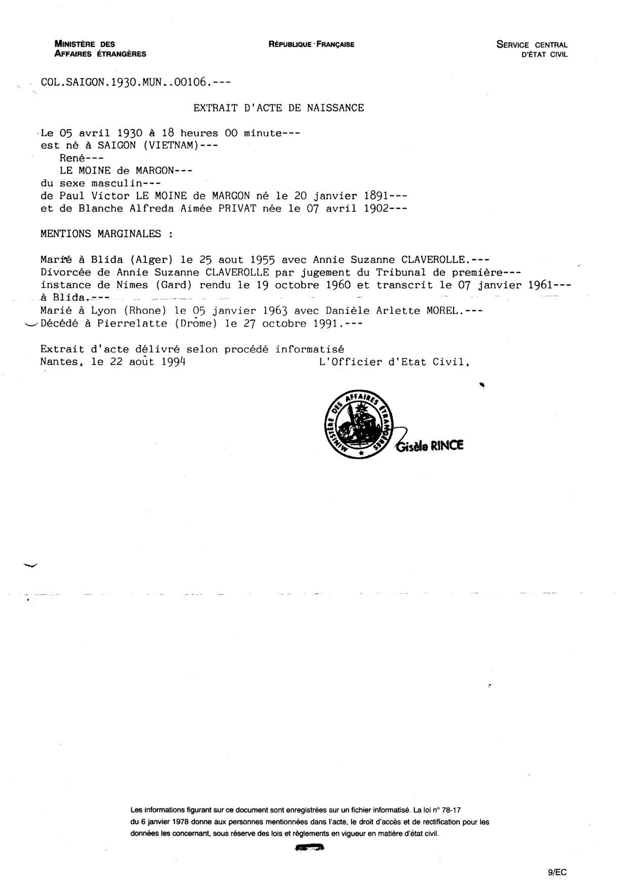paul pouse ensuite le 27 juillet 1922 nimes blanche alfreda aimee privat dite juliette voir. Black Bedroom Furniture Sets. Home Design Ideas